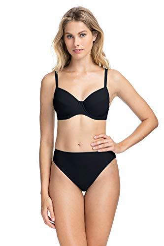 Profile by Gottex Women's Cup Sized Bikini Bra Top Swimsuit, Tutti Frutti Black, 40F