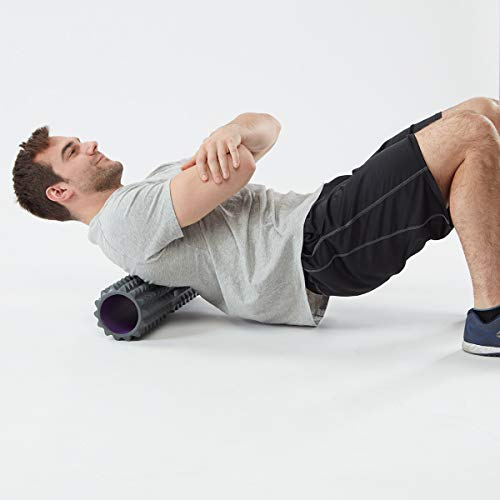Product Image 5: Planet Fitness Muscle Massager Foam Roller for Deep Tissue Massage , Back , Trigger Point Therapy , Grey 13″