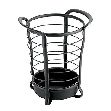 InterDesign Axis Utensil, Spatula, Silverware Holder for Kitchen Countertop Storage - Matte Black