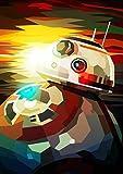 Pintura por Números para Adultos y niños Pintar Diy al óleo de Bricolaje BB-8 Star Wars Cartoon-Roboter con Marco Pinceles Principiantes Hogar Lienzo Decoraciones Colores Acrílica Conjunto Casa