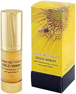 Active Bee Venom Gold Serum with 24k Gold Flakes, Aloe Vera, Lavander Oil, 1.05 Fluid Ounce