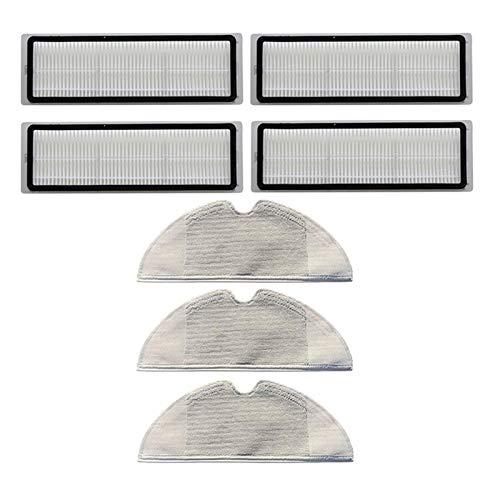ZRNG Filtros + Paños de MOP Conjunto Ajuste for Xiaomi MIJIA MI 1C STYTJ01ZHM Piezas de aspiradoras Accesorios for el hogar Reemplazo La instalación es Simple y fácil de Usar.