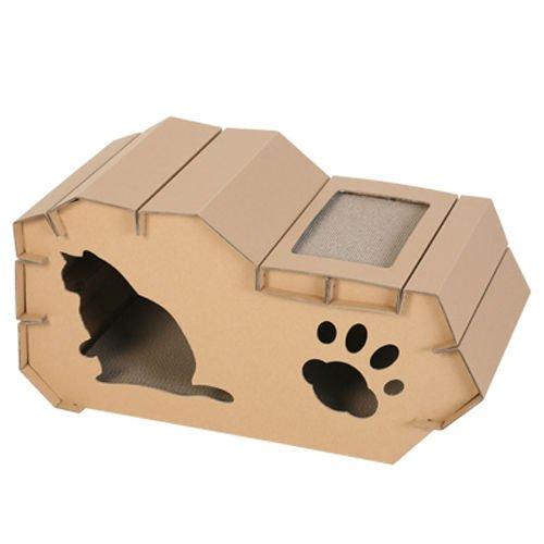 petdays Maison pour chat (popoky) Papier maison de chat, à