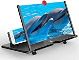 TOOVUS New Version 12 Inch Screen Expanders & Screen Magnifier Amplifier,3D HD New Phone Holder for All Smartphones- with 1 Year Replacement Warranty
