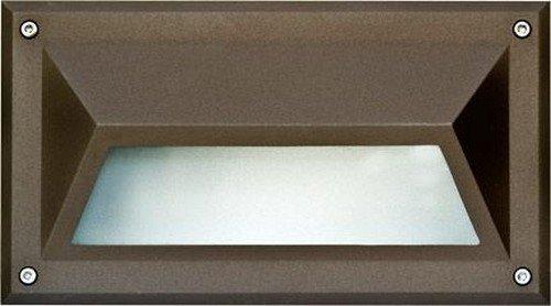 Dabmar Lighting DSL1002-BZ Hooded Incand 120V Step Light, Bronze Finish