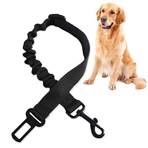 TUKNON Cinturon Perro Coche, Dog Seat Belt, Cinturon de Seguridad para Perros, Universal Dog Car Seat Belt, Longitud Ajustable, con Anti Choque Cinturon Elástico de Nylon, para Mascotas Perros Gatos