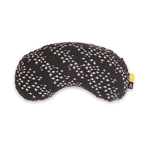 SIMPLY GOOD. Almohada de lactancia compacta, la mejor almohada de apoyo para lactancia, diseño ergonómico, funda lavable, portátil (pescado blanco sobre gris)