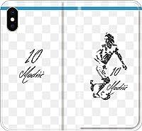 【全機種対応】 サッカー iPhone Xperia Galaxy 楽天Mobile UQ Yモバ Android Android シルエット スマホケース 手帳型 カバー(落書き:マドリッド:10番_01) 13 iPhone11