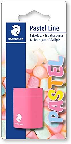 STAEDTLER Noris 51105PSBK - Afilalápices con depósito y cierre de seguridad, colores surtidos