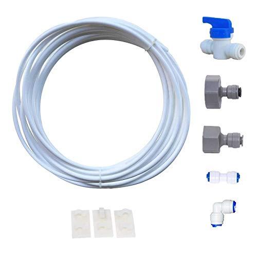 VYAIR DA97-01469D Wasserfilter Installations- und Anschlusskit für Samsung American Style Kühlschrank mit integriertem EIS- und Wasserspender (beinhaltet 5 Meter 1/4' / 6.4mm Durchmesser Tube)