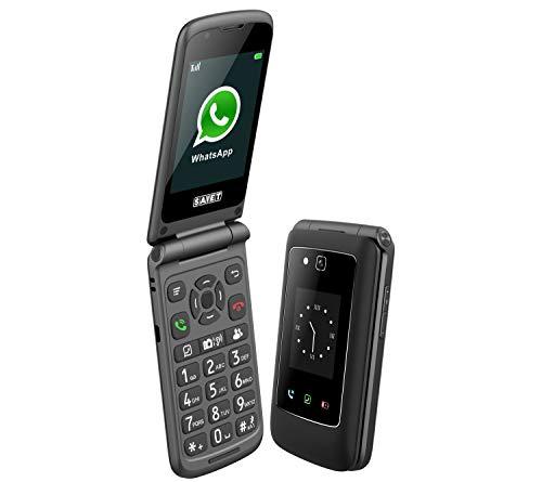 SAIET Link - Cellulare Smart Senior per Anziani - Tasti e Caratteri Grandi - Whatsapp