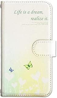 [サンヨーモール] スマホケース 手帳型 マグネット 磁石 カメラ穴 ストラップホール 耐衝撃 花柄 白色 ホワイト 蝶 カード入り ケース カバー sq00018tc Xperia Z3 (SO-01G / SOL26 / 401SO) 内面 白
