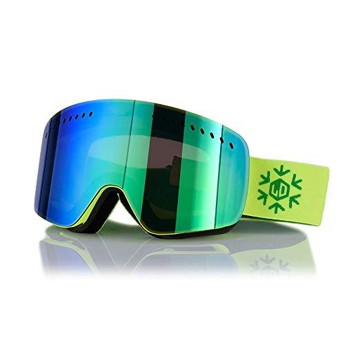 SPORTS Skibrillen Erwachsene Doppel Antifog Cylinder Brille Kinder Männer und Frauen Einzel- und Doppelbrett Ski-Ausrüstung (DREI Farben optional) (Color : A)
