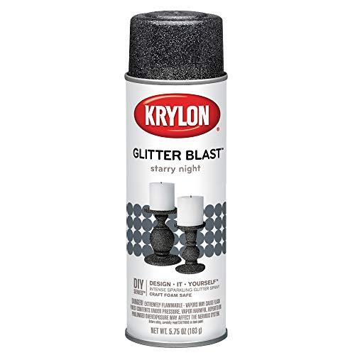 Krylon K03805A00 Glitter Blast Glitter Spray Paint for Craft Projects, Starry Night Silver, 5.75 oz