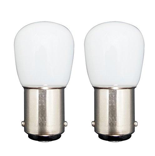 MZMing [2 Pack Bombilla LED B15 1.5W en Lugar de 15W 6000K Lámpara Halógena Blanca 120lm Temperatura Baja No Ajustable para Refrigerador/Máquina de Coser