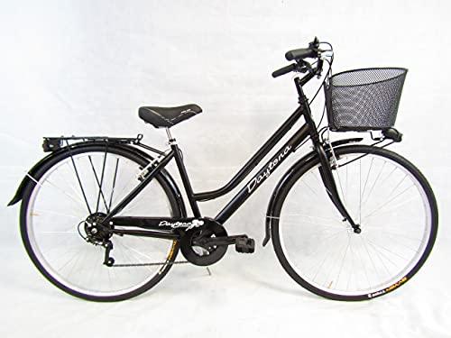 bicicletta donna con cestino Daytona Bicicletta Donna Bici da Passeggio City Bike 28 Trekking con Cambio 6v e Cesto
