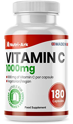 Vitamin C 1000mg 180 Capsules Suitable for Vegetarians & Vegans