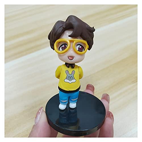 YSJJOSX Figura Model Personajes de Dibujos Animados niños Juguetes Chica muñeca Coche Llavero Adornos (Color : 1)