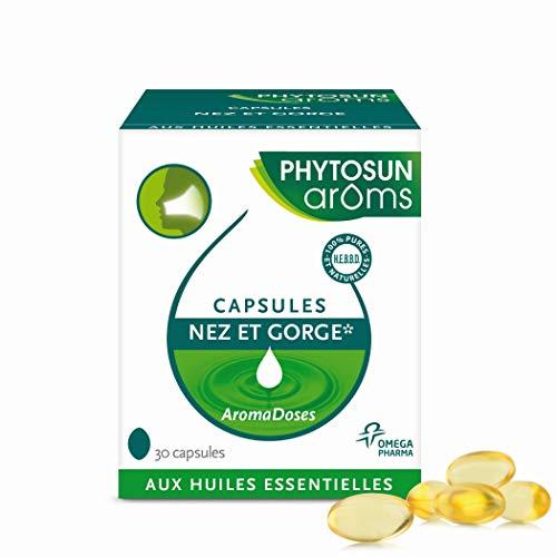 PHYTOSUN arôms CAPSULES NEZ & GORGE* aux huiles essentielles – 1 x 30 Capsules