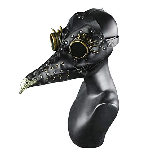 Máscara de Halloween, Steampunk Halloween Mascarada de Halloween Medieval Plague Doctor Bird Mask Cos Game Personaje de Dibujos Animados Head Cover
