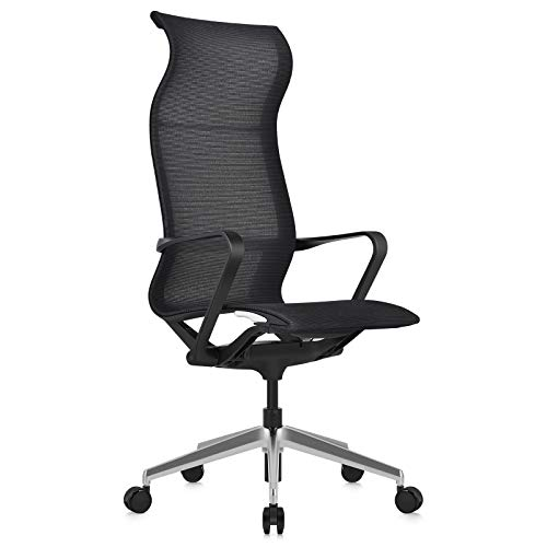 MOOJIRS Ergonomic Office Chair | with Seat Height Adjustable and Infinite Tilt Lock | Breathable Mesh Fabric | All Aluminum Alloy Base | for Computer Desk - Seat Height 17.32'-21.26'