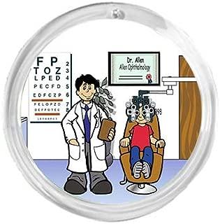 PrintedPerfection.com Personalized Round Christmas Ornament NTT: Optometrist Male Eye Doctor, Ophthalmologist, Optician, Optometry