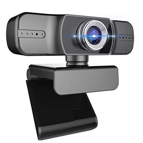Full 1080P Webcam, Webcam with Microphone, Computer Camera for Calling, Conferencing, Live Streaming, Manual Focus Web Camera for PC, Laptops, and Desktop