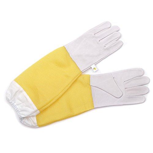 BEEComb IMKER SCHUTZHANDSCHUHE Feinleder, Größe XL, 50 cm | Imkerei Handschuhe
