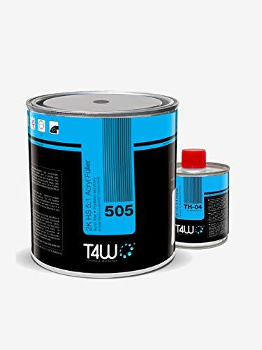 T4W 505 Acryl Füller Grundierung 5:1 Grau - 2,5 Liter + Härter 0,5 Liter (59038)