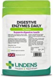 Lindens Digestive Enzymes Daily Tablets   90 Pack   Contains Betaine Hcl, Papain, Amylase & Lipase to Promote Better Digestion