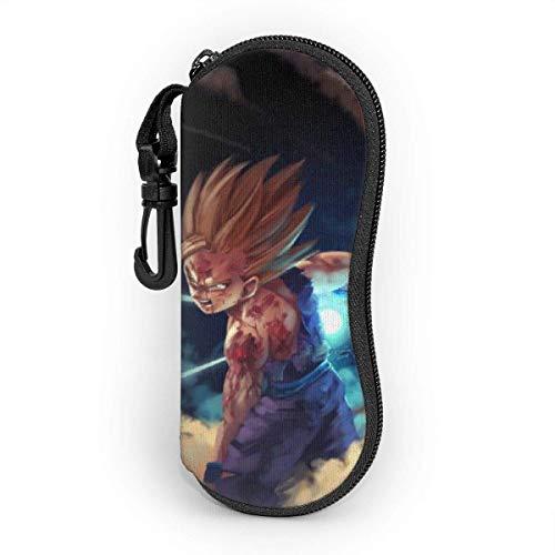 Dragon Ball Super Gafas de Sol Funda Suave Ultra Ligero Neopreno Gafas Fundas Cremallera Unisex Portátil Gafas Protección Casos