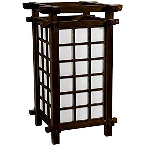 "Oriental Furniture 17"" Ido Lamp - Walnut"