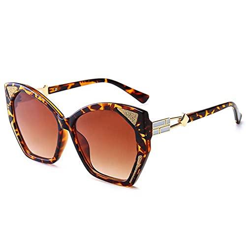 AMFG Gafas De Sol De Ojo De Gato Retro Tipo De Mariposa Gafas De Sol Brillantes Hombres Y Mujeres Partido De Negocios Al Aire Libre UV400 Gafas (Color : E, Size : M)