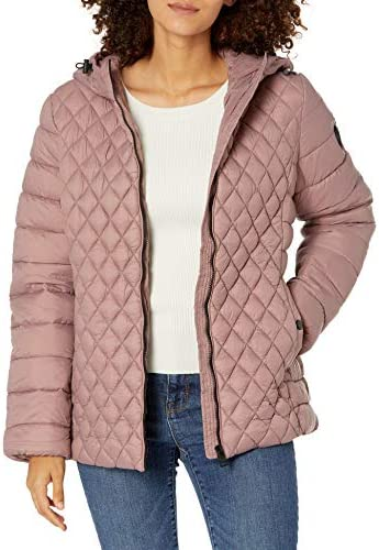Steve Madden LADIES Packable Jacket DUPNK DUSTY PINK 3X product image