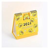 デスクカレンダー漫画猫2021デスクカレンダースクールアジェンダメモパッドウォールプランナー装飾キッズギフトデスクカレンダー (Color : Duck)