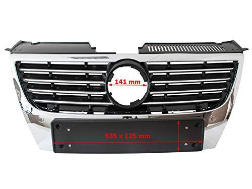 Ersatzteil Auto Front Kühler Grill Lufteinlässe zwischen Scheinwerfer schwarz Chrom für breite Nummernschilder