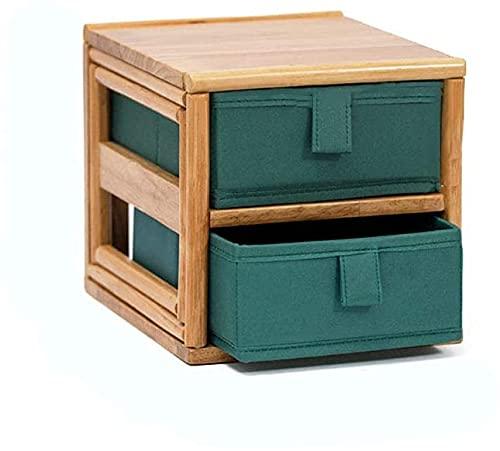 SSHA Joyero Caja de joyería Caja de Almacenamiento Caja de Escritorio cajones de Escritorio Caja de Acabado Oxford Rack Office para tocador Organizador de Joyas (Size : 18.5 * 22 * 18cm)
