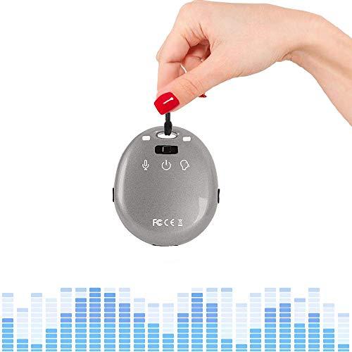 eoqo® Primo Registratore Audio Voce Più Piccolo al Mondo A Portaciavi 8 GB Memoria con MP3 Player (Grigio)