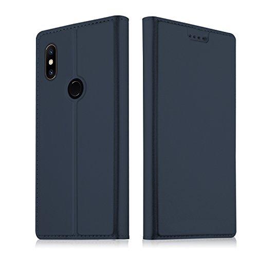 SHIEID® Xiaomi Mi Mix 2S Funda Ultra Delgado,Cierre magnético,Faux Cuero Billetera Funda para Xiaomi Mi Mix 2S con Stand Función(Azul)