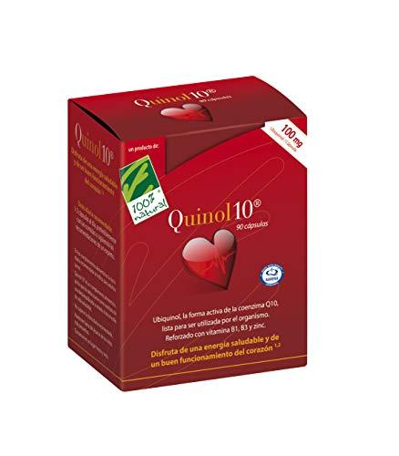 100% Natural Quinol 10 Ubiquinol- Complemento Alimenticio, 100 mg - 90 Cápsulas