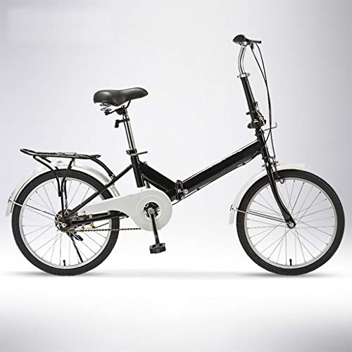 Lowest Prices! TXTC Folding Bike for Women, Men, Adults, Cruiser Cycling Bicycles, Single-Speed 20 I...