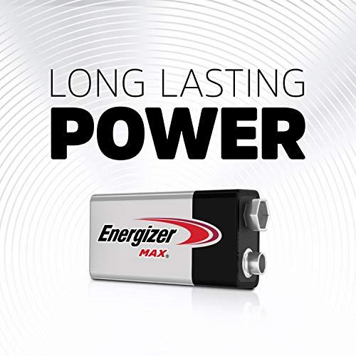 Energizer 9V Premium Alkaline 9 Volt Batteries, (4 Count)