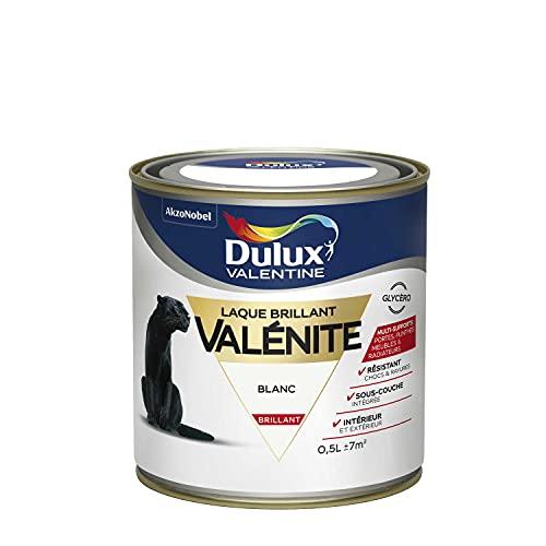 Dulux Valentine Peinture Laque Valénite Glycéro multisupport intérieur-extérieur – Grande résistance pour boiseries et ferronneries - aspect Brillant Blanc 0,5 L - 5211209