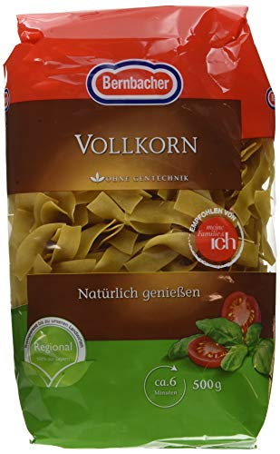 Bernbacher Vollkorn Bandnudel, 10er Pack (10 x 500 g)