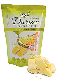 NOUR freeze dried Durian Monthong Thailand snacks 100% Natural fruit 1oz  1pack