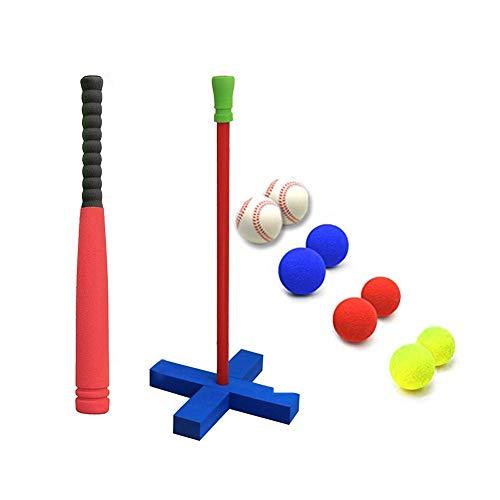 globalqi Kinder Soft Foam T-Ball Baseball Set Spielzeug, Kindersicherheitssoftware Baseball Training Sportspielzeug, 8 Verschiedene Farbige Bälle Für Spaß Family Home Outdoor-Spiel