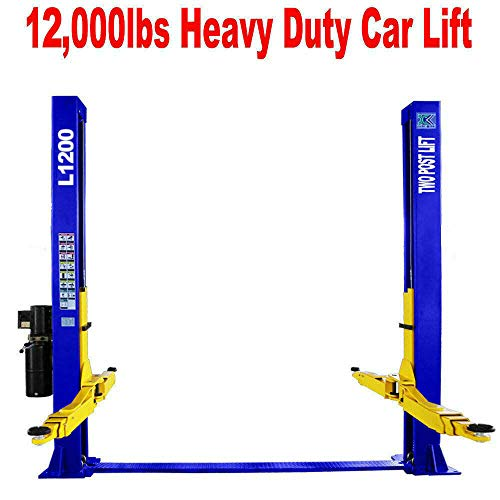Two Post L1200 Auto Lift 12,000 lb. Capacity Car Vehicle Lift 110V / 12 Month...