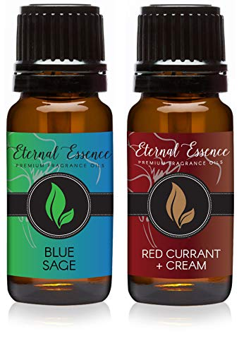 Pair (2) - Blue Sage & Red Currant & Cream - Premium Fragrance Oil Pair - 10ML