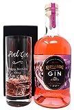 Personalised Crystal Highball & Pink Gin - Pink Gin Design (Kopparberg Premium Mixed Fruit Gin
