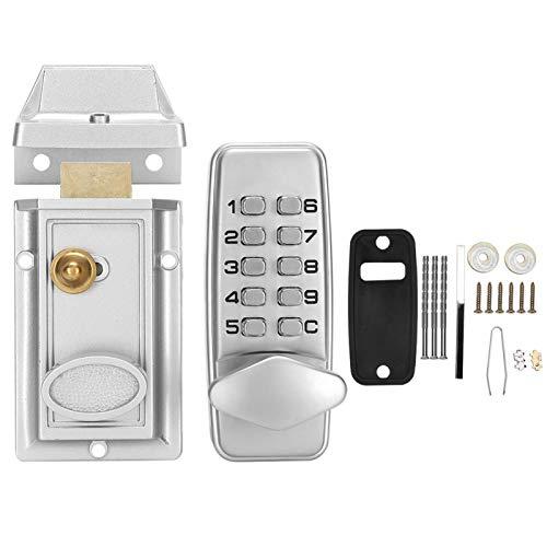 Cerradura de puerta con contraseña mecánica digital, cerradura de puerta con teclado electrónico a prueba de agua para seguridad en el hogar